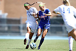 26 August 2012: Duke's Kim DeCesare (19) and Florida's Kathryn Williamson (7). The University of Florida Gators defeated the Duke University Blue Devils 3-2 in overtime at Fetzer Field in Chapel Hill, North Carolina in a 2012 NCAA Division I Women's Soccer game.