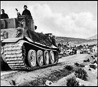 BNPS.co.uk (01202 558833)Pic:    Pen&Sword/BNPS<br /> <br /> A column of Tiger I tanks in the desert.<br /> <br /> Fascinating rare photos of Rommel's feared Afrika Korps which terrorised the Allies in the desert have come to light in a new book.<br /> <br /> Under the direction of legendary German commander Field Marshal Erwin Rommel, who was nicknamed the Desert Fox, the corps were recognised as a superb fighting machine.<br /> <br /> They achieved their greatest triumph when they outmanoeuvred the British at the Battle of Gazala in June 1942 which led to them capturing Tobruk in Libya.<br /> <br /> But they were ultimately defeated in the iconic Battle of Alamein when they succumbed to an offensive led by Field Marshal Bernard Montgomery.