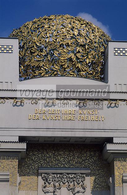 Europe/Autriche/Niederösterreich/Vienne: Pavillon de la sécession - Détail façade