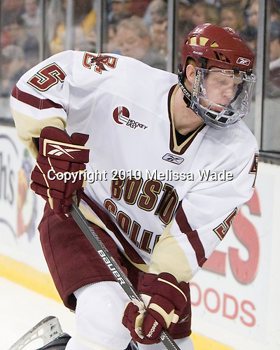 Philip Samuelsson (BC - 5) - The Boston College Eagles defeated the University of Maine Black Bears 7-6 in overtime to win the Hockey East championship on Saturday, March 20, 2010, at TD Garden in Boston, Massachusetts.