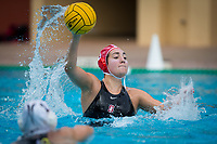 Stanford, CA - March 8, 2020: Chloe Harbilas at Avery Aquatic Center. The No. 2 Stanford Women's Water Polo team beat the No. 6 Arizona State Sun Devils 9-8.
