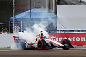 2017 Verizon IndyCar Series - Firestone Grand Prix of St. Petersburg<br /> St. Petersburg, FL USA<br /> Sunday 12 March 2017<br /> Sebastien Bourdais celebrates with donuts<br /> World Copyright: Phillip Abbott/LAT Images<br /> ref: Digital Image lat_abbott_stp_0317_12978