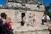 Felix, Lucas and I at the ruins of Coba, Quintana Roo, Mexico