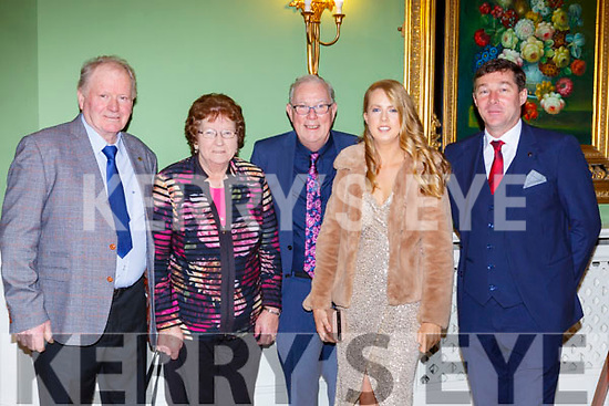 Seamus Wheldon, Eileen Wheldon, Gene Moriarty, Amy Moriarty and Merry Talbot at the Fossa GAA club 50th anniversary social in the Dromhall Hotel on Saturday night