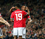 Marcus Rashford of Manchester United is congratulated by Anthony Martial of Manchester United during the Carabao Cup Third Round match at the Old Trafford Stadium, Manchester. Picture date 20th September 2017. Picture credit should read: Simon Bellis/Sportimage