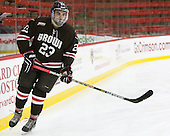 Dane Cooper (Brown - 23) - The Harvard University Crimson defeated the Brown University Bears 4-3 to sweep their first round match up in the ECAC playoffs on Saturday, March 7, 2015, at Bright-Landry Hockey Center in Cambridge, Massachusetts.