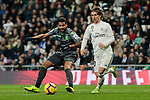 Real Madrid's Luka Modric and Real Sociedad's Willian Jose Da Silva during La Liga match between Real Madrid and Real Sociedad at Santiago Bernabeu Stadium in Madrid, Spain. January 06, 2019. (ALTERPHOTOS/A. Perez Meca)<br />  (ALTERPHOTOS/A. Perez Meca)