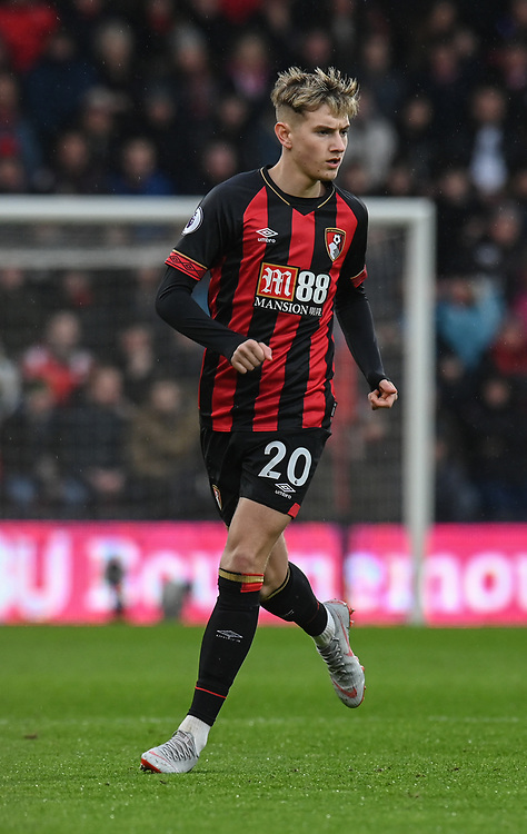 Bournemouth's David Brooks<br /> <br /> Photographer David Horton/CameraSport<br /> <br /> The Premier League - Bournemouth v West Ham United - Saturday 19 January 2019 - Vitality Stadium - Bournemouth<br /> <br /> World Copyright © 2019 CameraSport. All rights reserved. 43 Linden Ave. Countesthorpe. Leicester. England. LE8 5PG - Tel: +44 (0) 116 277 4147 - admin@camerasport.com - www.camerasport.com