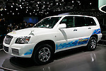 Toyota FCHV-adv on display during the first press day for the 41th Tokyo Motor Show, 21 October 2009 in Tokyo (Japan). The TMS will be open for the public from 23 October 2007 to 4 November 2009.