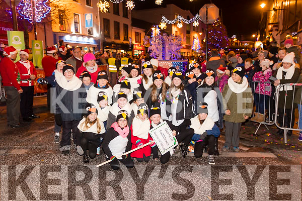 Gaels coil Faithleann NS at the Christmas in Killarney parade on Friday night.