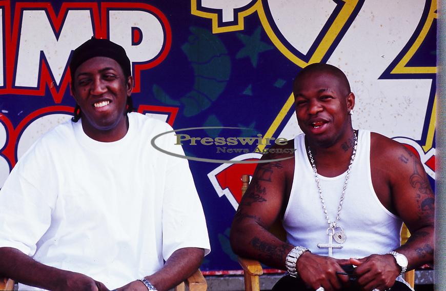 Lil Wayne, Slim, Baby aka Birdman, Stunna, Jeff Panzer on the of a Cash Money Records video shoot in New Orleans, Louisiana August 2000.  Photo credit: Presswire News/ Elgin Edmonds