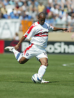 10 April 2004:  Chicago Fire Andy Williams in action against Earthquakes at Spartan Stadium in San Jose, California.   Earthquakes and Fire are tied after the game.