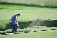 Ted Potter, Jr. (USA) hits from the sand on 11 during Thursday's round 1 of the 117th U.S. Open, at Erin Hills, Erin, Wisconsin. 6/15/2017.<br /> Picture: Golffile | Ken Murray<br /> <br /> <br /> All photo usage must carry mandatory copyright credit (&copy; Golffile | Ken Murray)