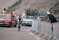 white jersey Simon Yates (GBR/Orica-Scott) up the highest point in the 2017 TdF: The Galibier (HC/2642m/17.7km/6.9%)<br /> <br /> 104th Tour de France 2017<br /> Stage 17 - La Mure &rsaquo; Serre-Chevalier (183km)