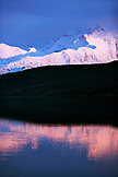 USA, Alaska, Mount Denali reflecting in Mirror Lake, Denali National Park