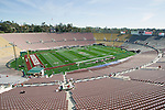 A general view of Rose Bowl Stadium prior to the Wisconsin Badgers 2012 Rose Bowl NCAA football game against the Oregon Ducks in Pasadena, California on January 2, 2012. The Ducks won 45-38. (Photo by David Stluka)