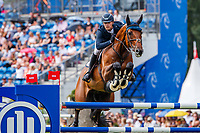 NED-Doron Kuipers rides Empire during the Allianz-Prize Jumping. 2019 GER-CHIO Aachen Weltfest des Pferdesports. Saturday 20 July. Copyright Photo: Libby Law Photography