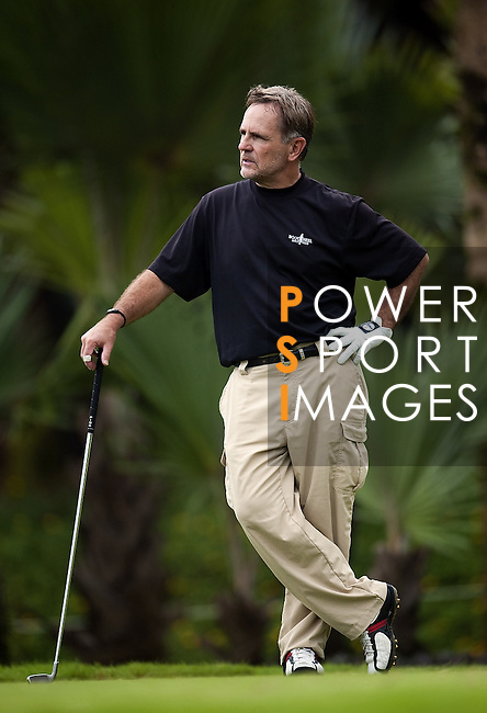TAIPEI, TAIWAN - NOVEMBER 18:  Joe Stansberry stands of the USA on the 8th hole during day one of the Fubon Senior Open at Miramar Golf & Country Club on November 18, 2011 in Taipei, Taiwan. Photo by Victor Fraile / The Power of Sport Images