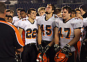 Escondido Cougars absorb the pain of their loss to La Costa Canyon High School in December, 2008.  photo for North County Times