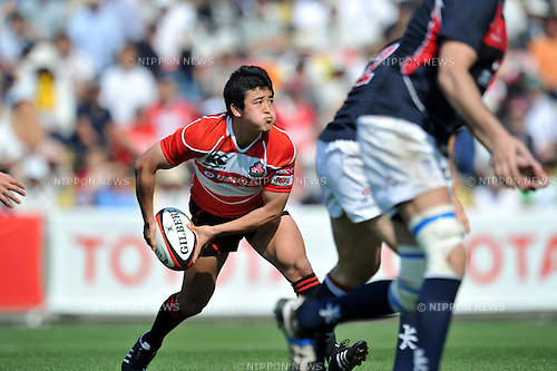 Atsushi Hiwasa (JPN), .MAY 19, 2012 - Rugby : HSBC Asian Five Nations 2012 match between Japan 67-0 Hong Kong at Chichibunomiya Rugby Stadium, Tokyo, Japan. (Photo by Jun Tsukida/AFLO SPORT) [0003].