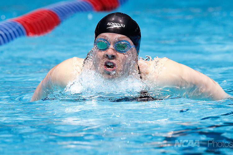 23 MAR 2012: Logan Todhunter of Williams College swims in the 200 yard butterfly event during the Division III Men's and Women's Swimming and Diving Championship held at the IU Natatorium in Indianapolis, IN.  Todhunter won the event with a new NCAA record time of 1:55:66.  Joe Robbins/NCAA