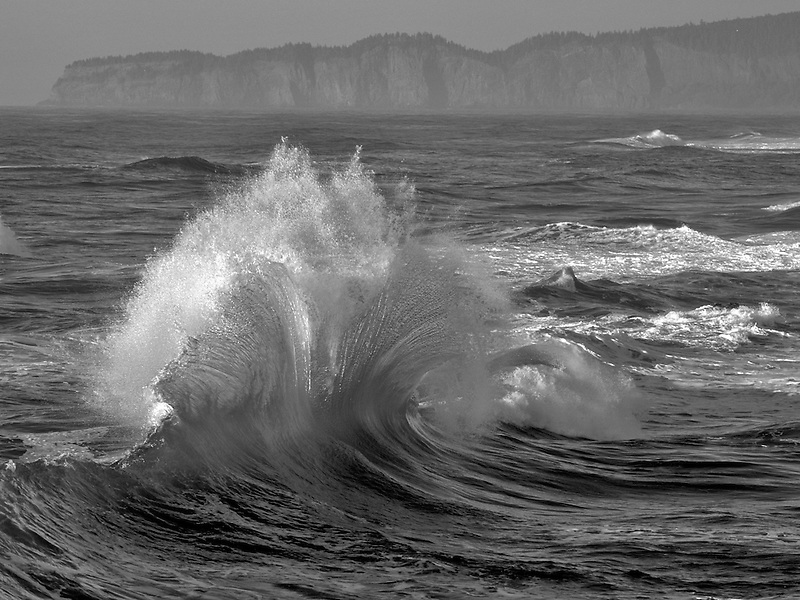 Storm wave off Cape Kiwanda, Oregon