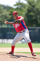 Juary Gomez of the Gulf Coast League Phillies during the game at the ESPN Wide World of Sports Complex in Orlando, Florida July 10 2010. Photo By Scott Jontes/Four Seam Images