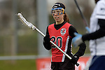 GER - Mainz, Germany, March 20: During the 1. Bundesliga Damen lacrosse match between Mainz Musketeers (white) and SC Frankfurt 1880 (red) on March 20, 2016 at Sportgelaende Dalheimer Weg in Mainz, Germany. Final score 7-12 (HT 3-5). (Photo by Dirk Markgraf / www.265-images.com) *** Local caption *** Kristin Weinrich #20 of SC Frankfurt 1880