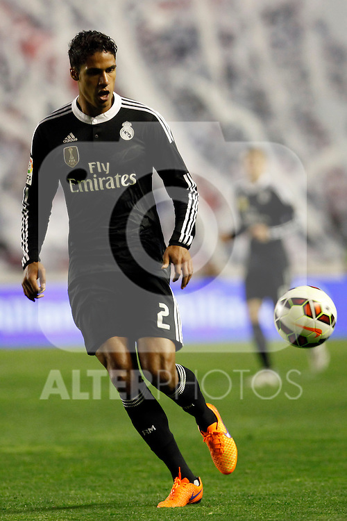Varane of Real Madrid during La Liga match between Rayo Vallecano and Real Madrid at Vallecas Stadium in Madrid, Spain. April 08, 2015. (ALTERPHOTOS/Caro Marin)