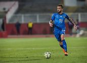 27th March 2018, Karadjorde Stadium, Novi Sad, Serbia; Under 21 International Football Friendly, Serbia U21 versus Italy U21; Forward Vittorio Parigini of Italy in action with the ball