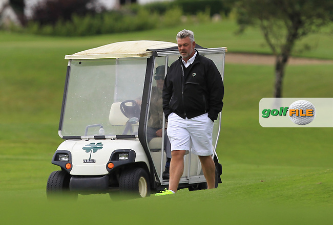 Darren Clarke (NIR) following his son Tyrone on the 17th fairway during R1 of the 2016 Connacht U18 Boys Open, played at Galway Golf Club, Galway, Galway, Ireland. 05/07/2016. <br /> Picture: Thos Caffrey | Golffile<br /> <br /> All photos usage must carry mandatory copyright credit   (&copy; Golffile | Thos Caffrey)