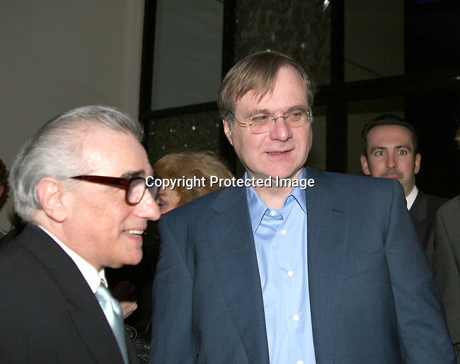 Martin Scorsese, director, &amp; Paul Allen<br />**EXCLUSIVE**<br />Miramax Films Presents -&ldquo;The Aviator&rdquo; Post Premiere Party <br />Annex Restaurant<br />Hollywood, CA, USA<br />Wednesday, December 1, 2004<br />Photo By Selma Fonseca /Celebrityvibe.com/Photovibe.com, <br />New York, USA, Phone 212 410 <br />5354, email:sales@celebrityvibe.com