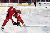 Brendan Collier (NU - 16) The Northeastern University Huskies practiced at Fenway on Friday, January 13, 2017, in Boston, Massachusetts.