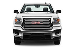 Car photography straight front view of a 2016 GMC Sierra-2500HD 2WD-Regular-Cab-Long-Box 2 Door Pick-up Front View