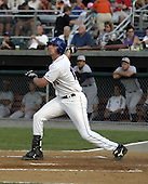 August 9, 2004:  Chip Cannon of the Auburn Doubledays, Short-Season Single-A affiliate of the Toronto Blue Jays, during a game at Falcon Park in Auburn, NY.  Photo by:  Mike Janes/Four Seam Images