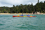 New Zealand, South Island: Kayaking from Kaiteriteri along the Abel Tasman National Park coast. Photo copyright Lee Foster. Photo # newzealand125064