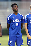 27 September 2016: Duke's CC Uche. The Duke University Blue Devils hosted the Georgia State University Panthers at Koskinen Stadium in Durham, North Carolina in a 2016 NCAA Division I Men's Soccer match. Georgia State won the game 2-1 in two overtimes.