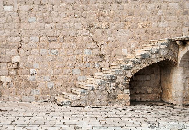 Stairway in the old town of Dubrovnik, Croatia.