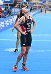 06.07.2019,  Innenstadt, Hamburg, GER, Hamburg Wasser World Triathlon, Elite Frauen, im Bild die Siegerin Non Standford (GBR) im Ziel Foto © nordphoto / Witke *** Local Caption ***