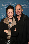 """Lynn Ahrens and Stephen Flaherty attends The """"Frankie and Johnny in the Clair de Lune"""" - Opening Night Arrivals at the Broadhurst Theatre on May 29, 2019  in New York City."""