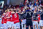 Freude nach Sieg gegen den TVB in Stuttgart beim Spiel in der Handball Bundesliga, TVB 1898 Stuttgart - Bergischer HC.<br /> <br /> Foto © PIX-Sportfotos *** Foto ist honorarpflichtig! *** Auf Anfrage in hoeherer Qualitaet/Aufloesung. Belegexemplar erbeten. Veroeffentlichung ausschliesslich fuer journalistisch-publizistische Zwecke. For editorial use only.