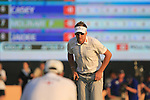 Ian Poulter lines up his putt on the 18th green during the Final Day of the Dubai World Championship, Earth Course, Jumeirah Golf Estates, Dubai, 28th November 2010..(Picture Eoin Clarke/www.golffile.ie)