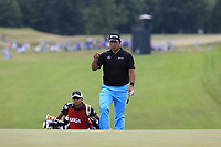 Hideki Matsuyama (JPN) walks onto the 8th green during Saturday's Round 3 of the 117th U.S. Open Championship 2017 held at Erin Hills, Erin, Wisconsin, USA. 17th June 2017.<br /> Picture: Eoin Clarke | Golffile<br /> <br /> <br /> All photos usage must carry mandatory copyright credit (&copy; Golffile | Eoin Clarke)