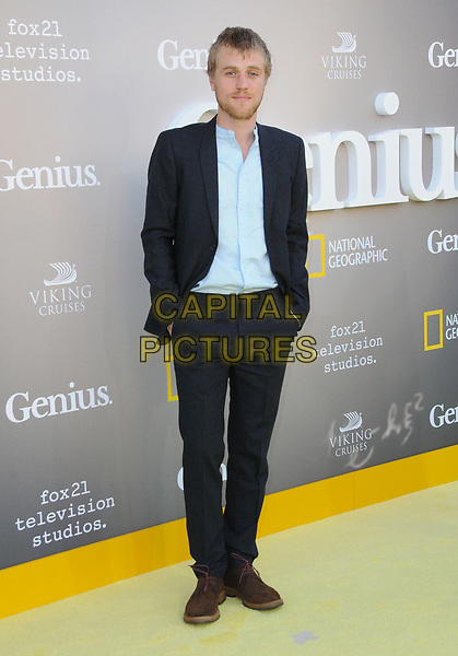 24 April 2017 - Westwood, California - Johnny Flynn. National Geographic's Premiere screening of &quot;Genius&quot; held at Fox Theater in Westwood. <br /> CAP/ADM/BT<br /> &copy;BT/ADM/Capital Pictures