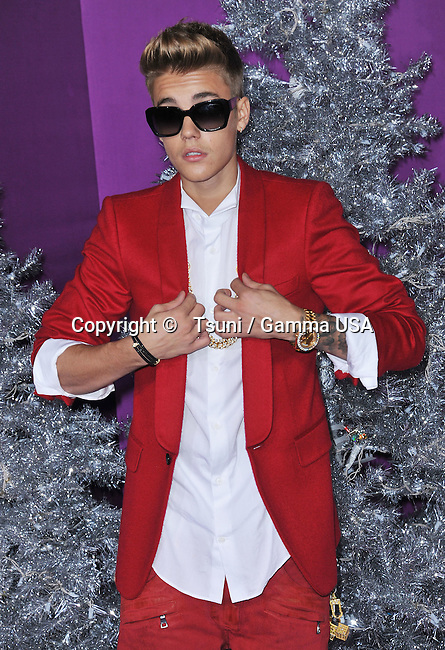 Justin Bieber  at the Justin Bieber S Believe Premiere at the Regal Theatre in Los Angeles.