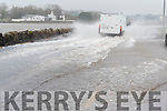 High tide and strong winds: flood on Strand Street, near Milltown bridge.