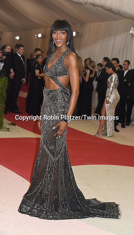 Naomi Campbell attends the Metropolitan Museum of Art Costume Institute Benefit Gala on May 2, 2016 in New York, New York, USA. The show is Manus x Machina: Fashion in an Age of Technology. <br /> <br /> photo by Robin Platzer/Twin Images<br />  <br /> phone number 212-935-0770