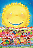 Interlitho, Soledad, CHRISTMAS CHILDREN, naive, paintings, kids world, sun(KL3224/5,#XK#) Weihnachten, Navidad, illustrations, pinturas