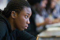 Hearing impaired student, Art & Design, Kingston College.