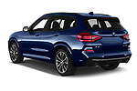 Car pictures of rear three quarter view of 2020 BMW X3 M-Sport 5 Door SUV Angular Rear